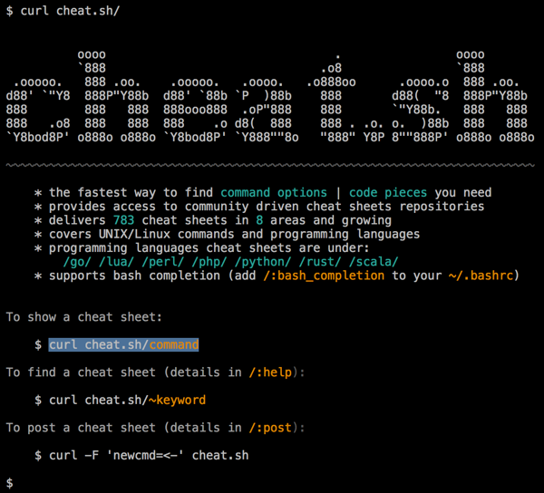Cheat.sh