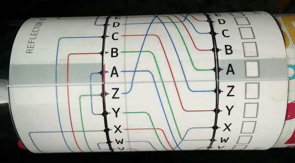 Rotor de papel Enigma